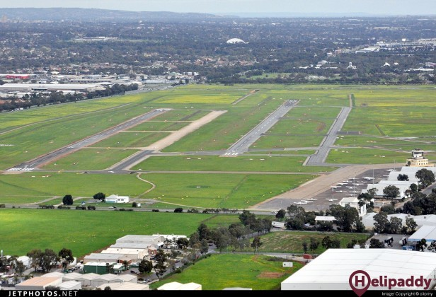 Parafield Airport by helicopter