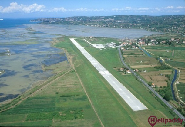 Portoroz Airport by helicopter