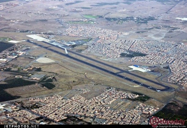 Marrakesh Int'l Airport  by helicopter