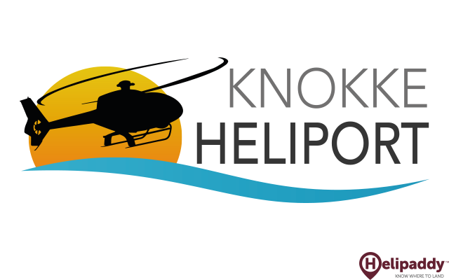 Knokke Heliport by helicopter