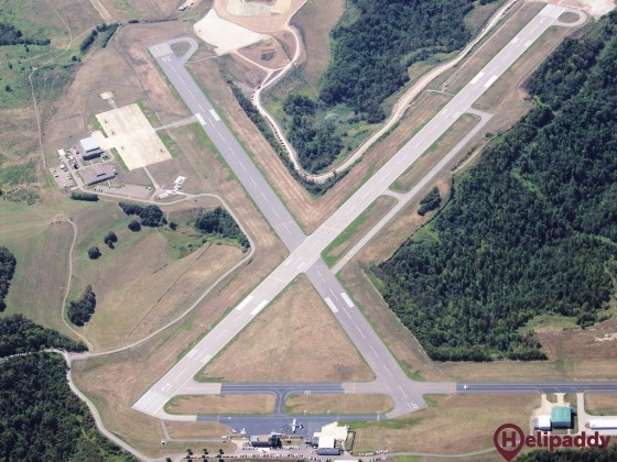 Wheeling-Ohio County Airport by helicopter
