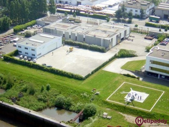 Antwerp Heliport by helicopter