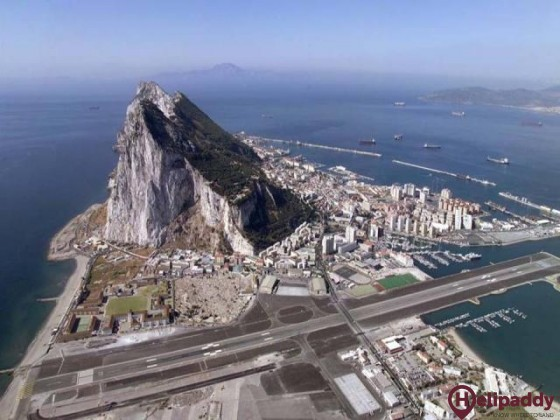 Gibraltar International Airport  by helicopter