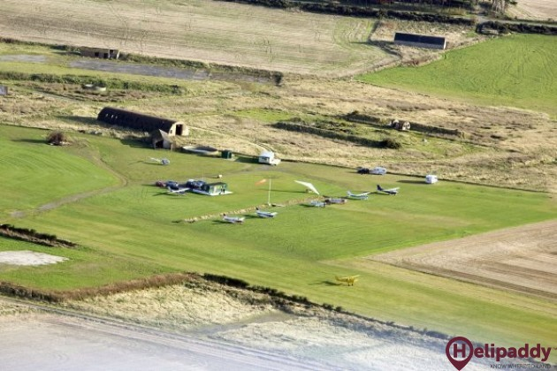 Easter Airfield by helicopter