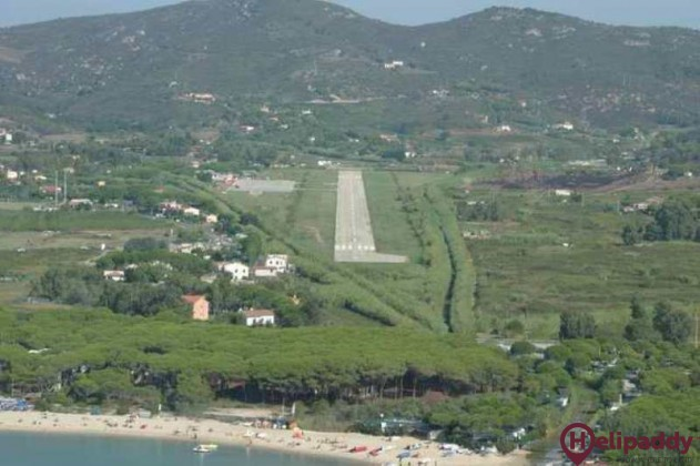 Elba Airport by helicopter