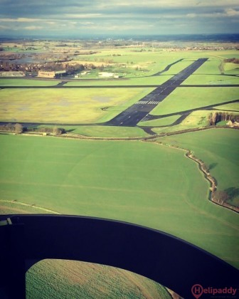 Leeds East Airport  by helicopter