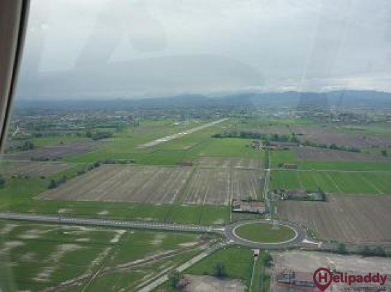 Parma Airport by helicopter