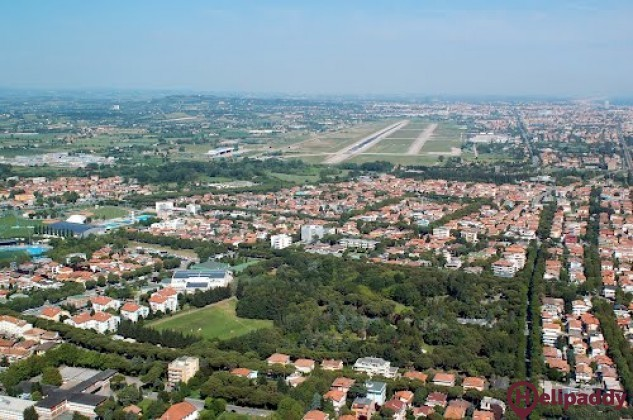 Federico Fellini International Airport by helicopter