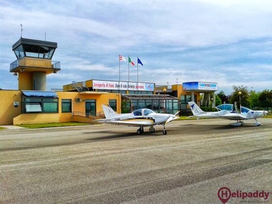 """Aeroporto di Fano """"MOVM Enzo Omiccioli"""" by helicopter"""