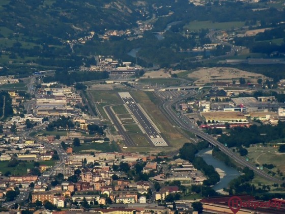 Aosta Valley Airport by helicopter