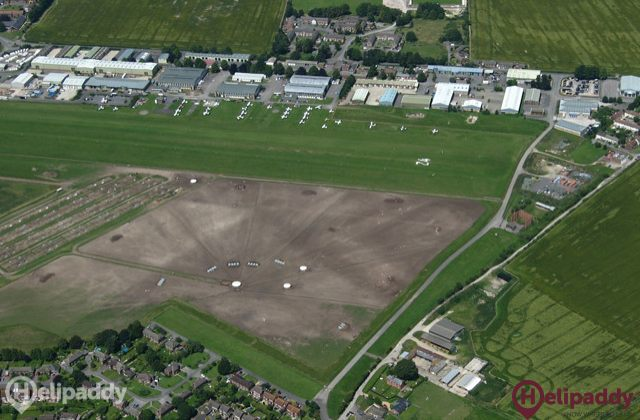 Old Sarum Airfield by helicopter