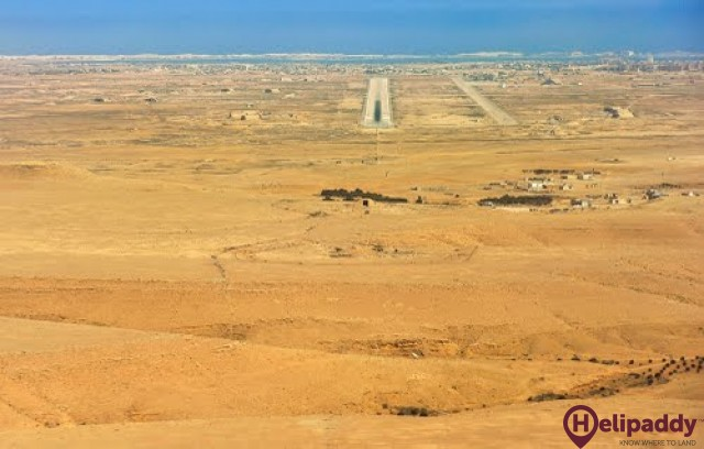 Marsa Matruh International by helicopter