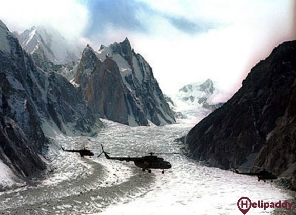 Point Sonam Siachen by helicopter