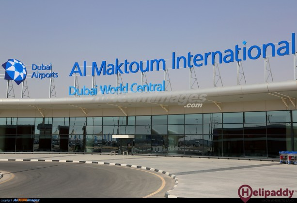 Al Maktoum Airport by helicopter
