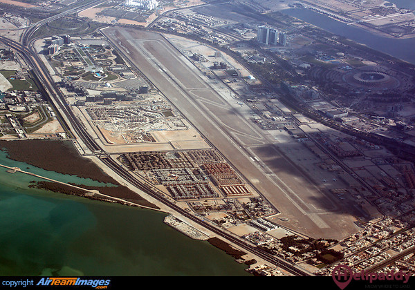 Al Bateen Airport by helicopter