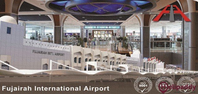 Fujairah Intl Airport by helicopter