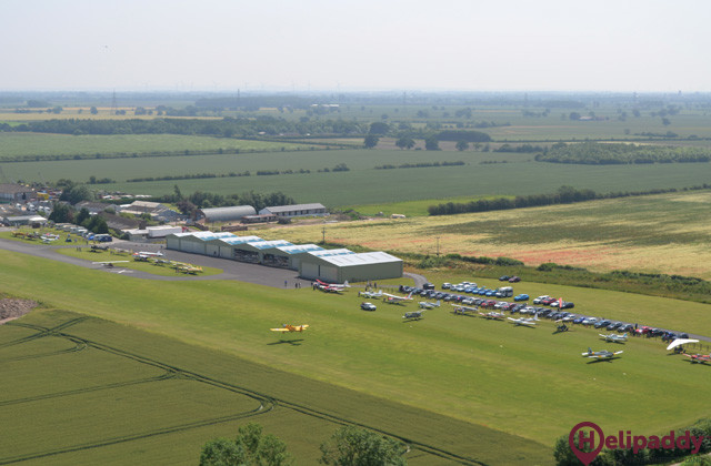 Breighton Airfield by helicopter