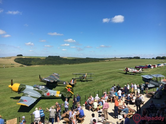 Compton Abbas Airfield by helicopter