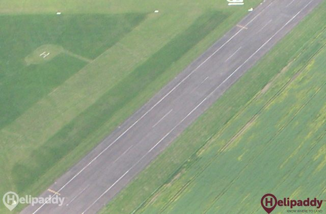 Leicester Airport by helicopter