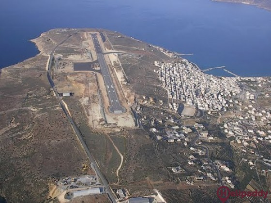 Sitia Public Airport by helicopter