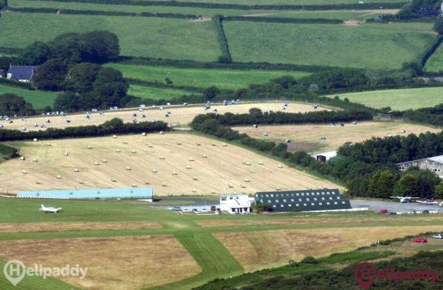 Bodmin Airfield by helicopter
