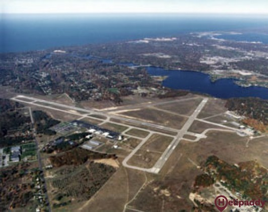 Muskegon County Airport by helicopter
