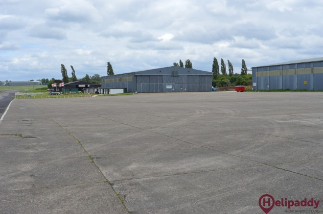North Weald Airfield by helicopter