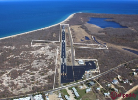 Montauk Airport by helicopter