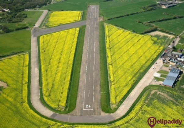 Seething Airfield by helicopter