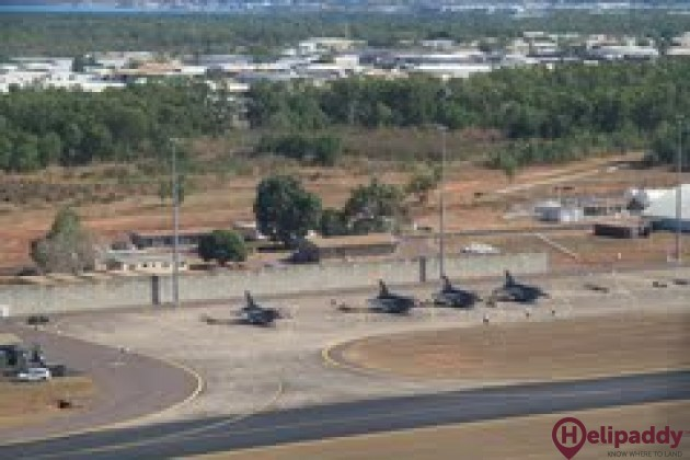 Darwin International Airport by helicopter