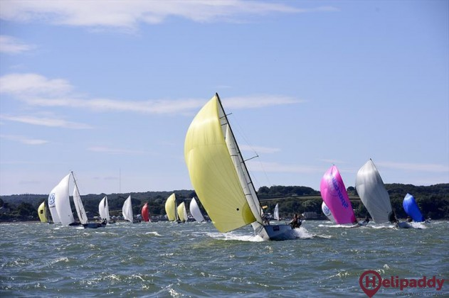 Cowes Week Limited by helicopter