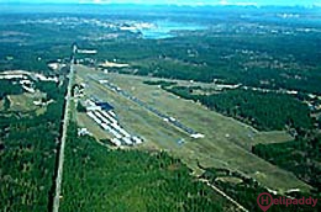 Bremerton National Airport by helicopter