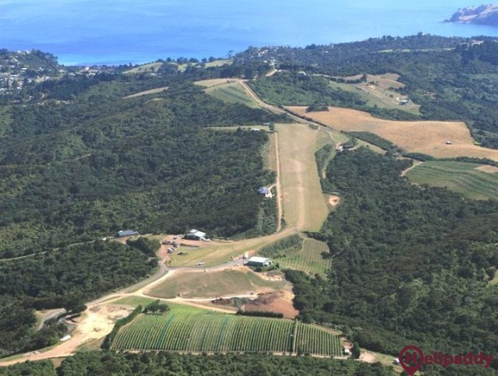 Waiheke Island Airfield by helicopter