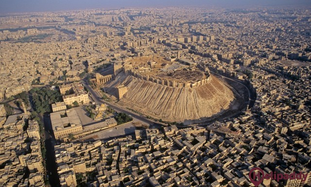 DWC Aleppo by helicopter