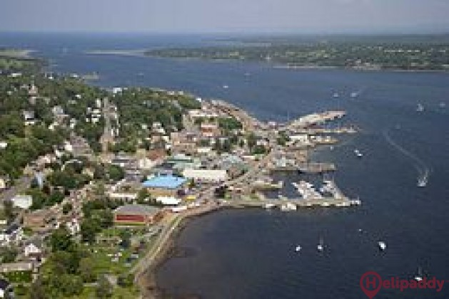 DWC Pictou Harbour, Nova Scotia by helicopter