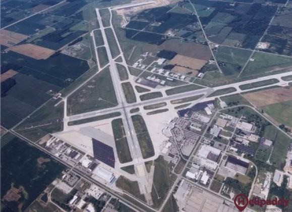 Fort Wayne International by helicopter