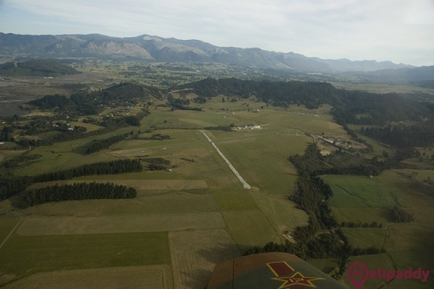 Takaka by helicopter