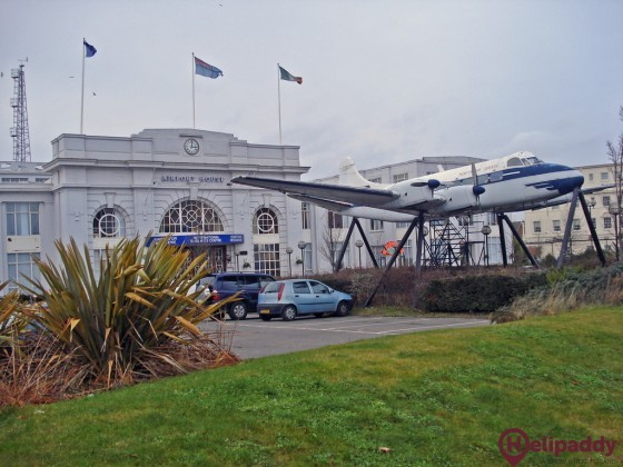 Croydon Airport by helicopter