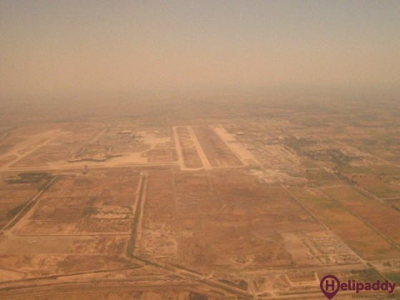 Baghdad International by helicopter