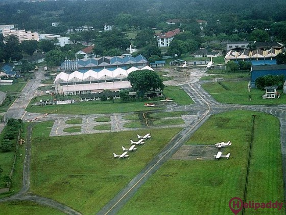 Singapore Seletar by helicopter