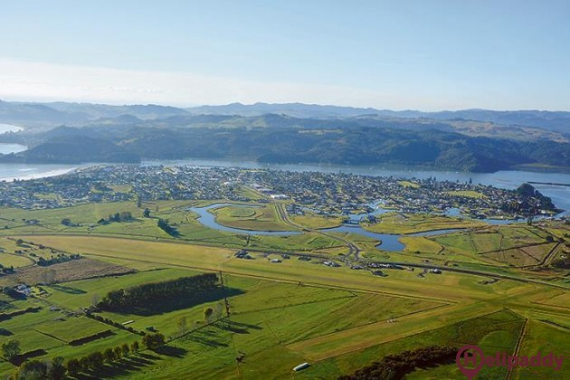 Whitianga by helicopter