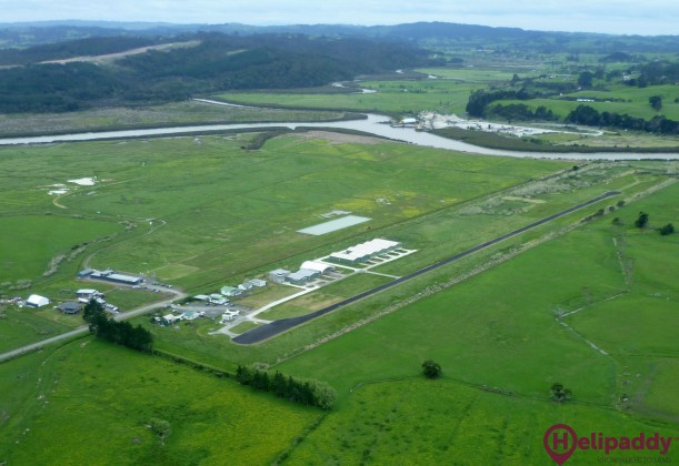 West Auckland Airport, Parakai by helicopter