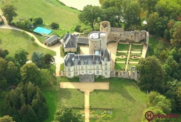 Château de la Flocellière by helicopter