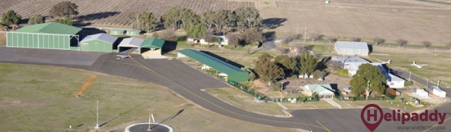 Mudgee Airport by helicopter