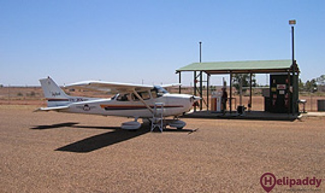 Boulia by helicopter