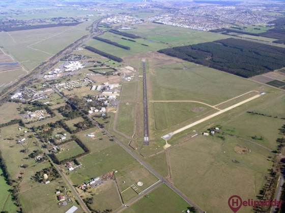 Latrobe Regional Airport by helicopter