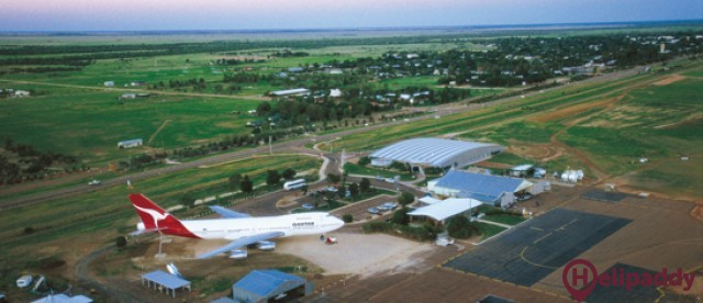 Longreach by helicopter