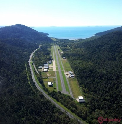 Whitsunday Airport by helicopter