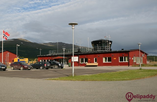 Hemavan Tarnaby Airport by helicopter