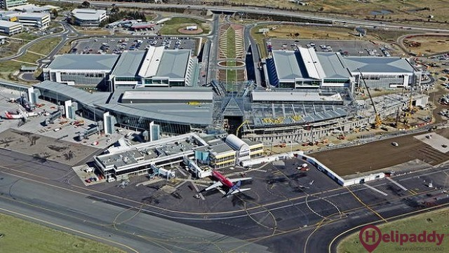 Canberra Airport by helicopter